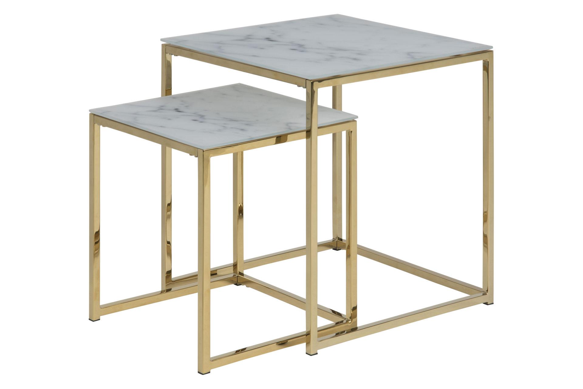 hoffmann mobel guben raume wohnzimmer couchtische beistelltische zwei satz tisch zwei satz tisch bzw wohnzimmertisch weiss marmorierte platte